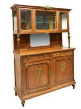 Antique  Sideboard, French Oak Display Cabinet, Early 1900s, Beautiful!!!