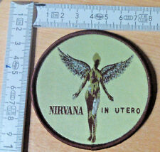 RARE WOVEN NIRVANA IN UTERO PATCH THE MELVINS ALIVE IN CHAINS SOUNDGARDEN