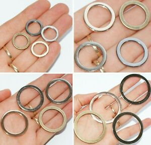 FLAT METAL ALLOY O-Rings WELDED Leathercraft Buckles ~ Silver Gold Black Bronze