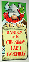 Newspaper Comic Strip Merry Christmas Card Hagar The Horrible 1983 NOS New