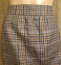 """Vintage Escada by Margaretha Ley Gray, Teal, Black Wool Skirt Sz 40, Waist: 32"""""""