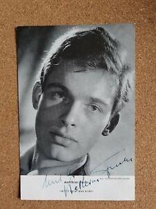 Matthias Fuchs+  original signierte schöne Autogrammkarte MIT 17 WEINT MAN NICHT