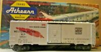 ATHEARN WESTERN PACIFIC BOXCAR KADEE COUPLERS RUST ON WEIGHT OTHERWISE EXCELLENT