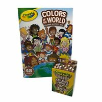 Crayola Colors Of The World 1 Box 32 Count Multicultural Crayons & Coloring Book