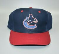 Vancouver Canucks NHL Logo 7 Vintage 90s Twill Snapback Cap Hat - NWT