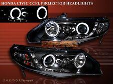 Fit For SEDAN 06-11 HONDA CIVIC 4DR  2 HALO CCFL LED PROJECTOR HEADLIGHTS