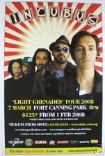 INCUBUS 2008 SINGAPORE CONCERT TOUR POSTER - ALTERNATIVE ROCK MUSIC