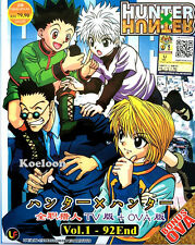 DVD Hunter X Hunter Anime Complete Series 1-92 End w/ OVA English Sub Ship FREE