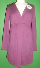 PETIT BATEAU Women's Maternity Plum Long Sleeve Sleep Top 62116 Sz 2 M NEW $99