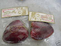 2 Vintage 1970s Silvestri Hearts Christmas Ornaments