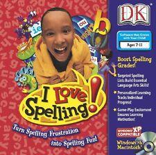 I Love Spelling -- Dorling Kindersley (DK) Home School Windows Mac Computer Game