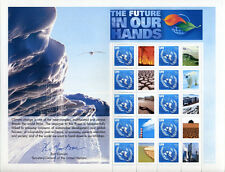 United Nations UN Personalized Sheet Stamp S20 2007 Climate Change