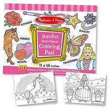 Melissa And Doug Jumbo Multi-Theme Coloring Pad NEW Traditional Toys Kids