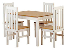 Seconique Ludlow Dining Set with 4 Chairs - Oak/White