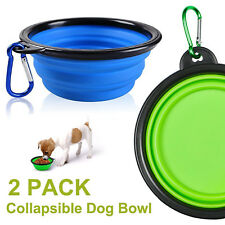 [BPA Free] Dog Cat Foldable Expandable Cup Dish Portable Collapsible Travel Bowl
