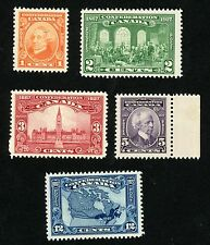 1927 Canada Stamps #141-145 All MINT, VF, H