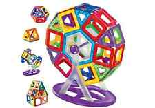 MAGNETIC BUILDING BLOCKS 78 PIECE CARNIVAL SET + WHEELS 3D KINDERGARTEN TOY