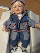 """Cathay Collection Doll """"Bernard"""" 122/5000 21"""" w/Blanket,Box,Certificate"""