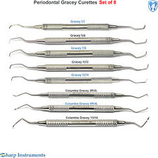 Periodontal Gracey Curettes SubGingival Root Planing/Scaling Dental Instruments
