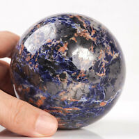 782g 81mm Large Natural Blue Sodalite Quartz Crystal Sphere Healing Ball Chakra