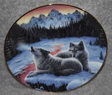 Winter'S Dawn Wolf Collector Plate