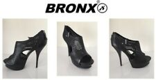 Ladies Heeled Shoes Bronx Toffy Mesh Black Size Uk6 New Free Delivery