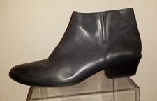 PAUL GREEN Genuine Gray Leather Ankle Bootie size 10.5 (7) made in Austria