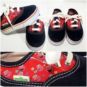 EUC Sesame Street Elmo ABC's Sneaker Shoes Baby Toddler 4W Unisex Black