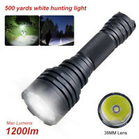Tactical Flashlight Torch Hunting Predator Lamp Outdoor Waterproof 1 Mode Light