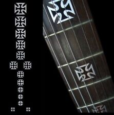 Iron Cross Metallic Fret Markers Inlay Sticker Decal Guitar