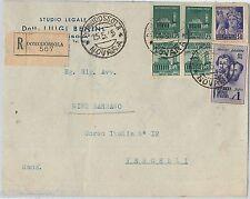 64193 - ITALIA : RSI  - STORIA POSTALE:  Busta RACCOMANDATA da DOMODOSSOLA 1945