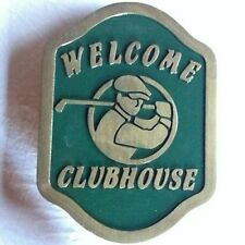 Golf Clubhouse 3D routed carved wood bar pub club  plaque sign Custom