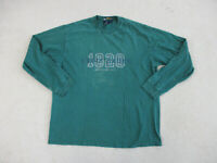 Eddie Bauer Shirt Adult Extra Large Green Blue Ebtek Outdoors Long Sleeve Mens *