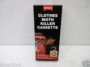 RENTOKIL PACK OF 4 CLOTHES MOTH KILLER CASSETTES