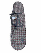 Burton 'Space Sack' Plaid Snowboard Travel Bag Shoulder Strap 166cm W/Tags