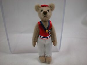 """World of Miniature Bears By Theresa Yang 3"""" Cashmere Bear Connors #892B CLOSING"""