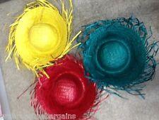 Colored Straw Hat Sombrero Fancy Party Dress Indoor Outdoor