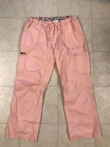 Koi Lindsey Cargo Scrub Pants Sweet Coral Size XL