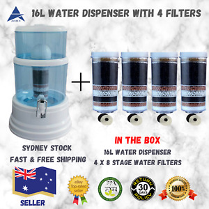 Benchtop Water Filter Dispenser 8 Stage Water Filter Purifier with 4 Filters 16L