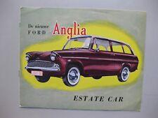 Ford Anglia Estate Car brochure Prospekt Depliant 8 pages 1962 Dutch text