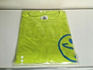 ZUMBA t-shirt top - YELLOW / GREEN - BNWT - one SIZE fits most - NEW -polka dots