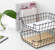 IKEA PLEJA Briefablage, schwarz Drahtkorb Box, Korb Schreibtisch Organizer NEU