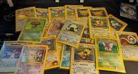 Vintage Lot of 5 Pokemon Cards WOTC 1998 to 2001 Base Set to Neo Destiny