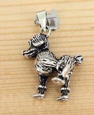 Anhänger  Schmuck Silber Beweglich  Hund Zwergpudel - pudel miniature poodle Dog