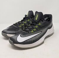 Nike Mens Infuriate Low 852457-005 Black Grey Volt Basketball Sneakers Size 9