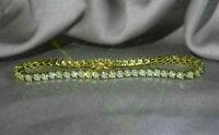 5 Ct Round VVS1 Brilliant Diamond Tennis Ladies Bracelet 14k Real Yellow Gold