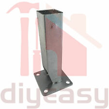 2x Post Bracket 50x50mm Hot Dip Galv Steel with 100x100 Base Plate Fence