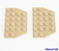 LEGO Star Wars Arquitectura 2 Unidades Placa Ala 4 x 6 oscuro tan 32059 NEU