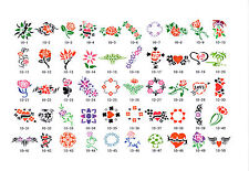 AIRBRUSH TATTOO STENCILS- BOOK 10 - 100 SELF ADHESIVE STENCILS