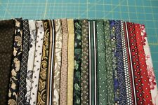 22 ASSORTED CHRISTMAS REMEMBERED QUILT FABRIC FAT QUARTERS VARIOUS DESIGNERS